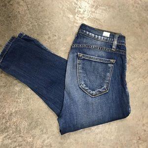 Kan Can Medium Wash Distressed Skinny Jeans